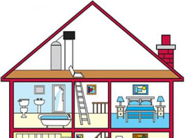my home - puzzle to be able to recognize the parts of the house and then to be able to describe it. Ideal for