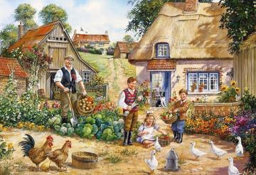 Childhood in the countryside. - Landscape. Childhood in the countryside.