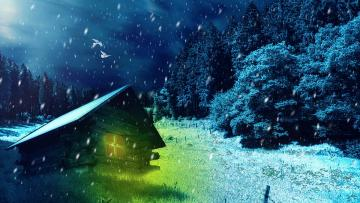 It's snowing:) - Snow - precipitation in the form of ice crystals with the shape of mainly six-armed stars, merging i