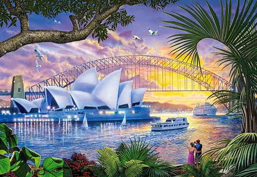 Australia - Australia. Sydney Opera House. Jigsaw puzzles, games and puzzles. A puzzle game for everyone (11×8)