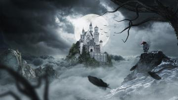 Castle and moon - With time, some of the castles changed their functions, and thus the appearance, becoming a result o