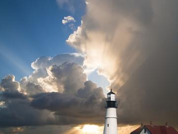 Lighthouse - A wonderful view of the lighthouse and the sea.