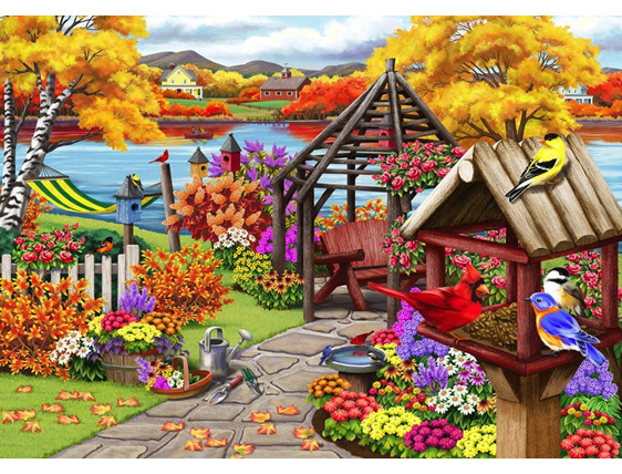 A colorful picture - Puzzle: colorful picture (10×10)