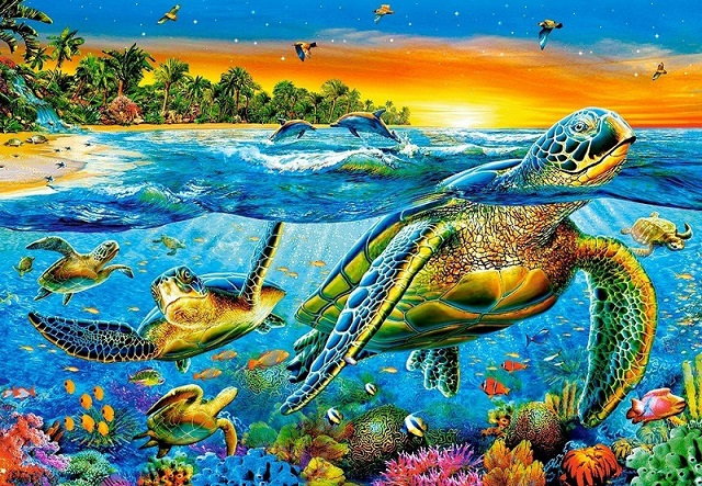 Water World - Puzzle: water landscape (10×10)