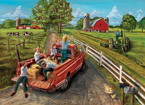 A trip to the countryside - Puzzle: trip to the countryside (11×9)