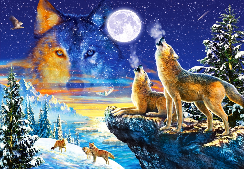 Animals: wolves - Jigsaw puzzle. Animals. Wolves (10×10)
