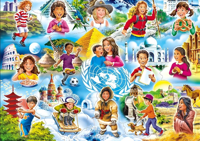 Children of the world. - Puzzle: children of the world.