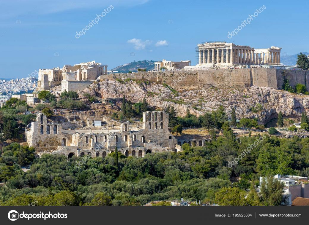 Acropolis today - An image of the Athens hill today.