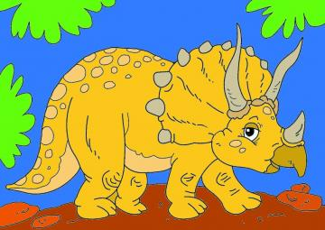 Triceratops - farbige Triceratops