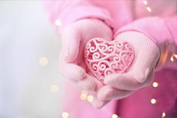 pink heart - a gift of love in pink