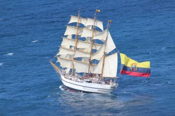 Guayas - Ecuadorian Navy Training Ship - Guayas is a sail training ship of the Ecuadorian Navy. Launched in 1976, it was named in jointly in