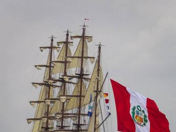BAP Union - This is a four-masted Peruvian Navy training ship with an LOA of 115.75 meters and a beam of 13.5 me