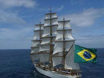 Cisne Branco - Brazilian Navy tall ship - This is the beautiful Cisne Branco, a Brazilian Navy ship and a goodwill ambassador of this South Am