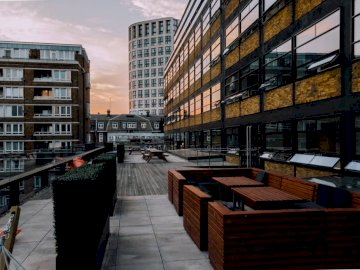 WeWork office patio - Architectural photo of buildings during daytime. London