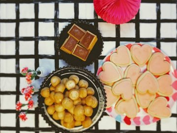 Valentines Party - Cookie lot on plate. Cache Valley Utah
