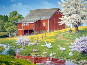 Blooming spring. - Landscape puzzle.