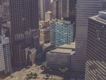 I was actually on the 39th - Bird's eye photography of high-rise buildings. Fort Worth, Texas