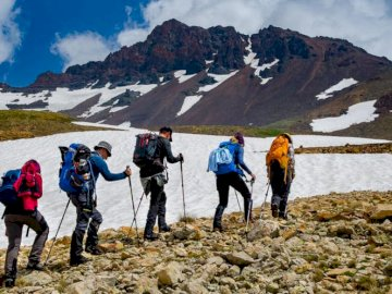 panorama - expedition to the Caucasus mountains