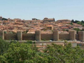 view of Avilla - Avilla - a city in Spain surrounded by magnificent ramparts