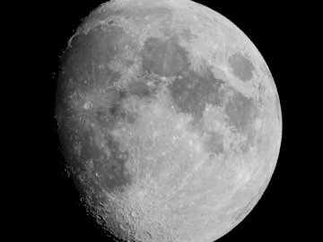 Moon July 12, 2019 - Gray scale photo of moon. West Virginia