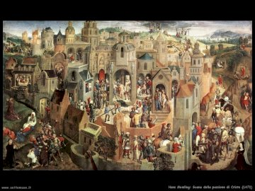 lapassionedicristo_memling_religione_quinta - Memling's painting from 1470 which represents the Passion of Christ in a single work