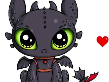 Toothless - Kawaii, toothless how to train your dragon