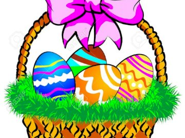 20 piece puzzle - Basket full of decorated eggs