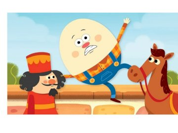HUMPTY DUMPTY - Humpty Dumpty sat on a dune, fell and neither horses nor knights managed to rebuild his egg-shaped b