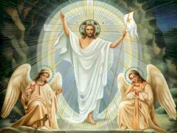 Jesus is risen - Arrange the following puzzles and you will find out whose coming will please the world on Easter Sun