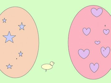 Easter - Easter eggs in the middle of the chicken stands in pastel colors because I like them