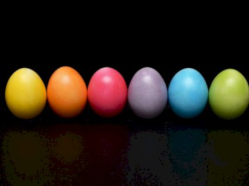 Easter eggs - Easter puzzles with colorful eggs